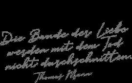 Thomas Mann Trauerspruch